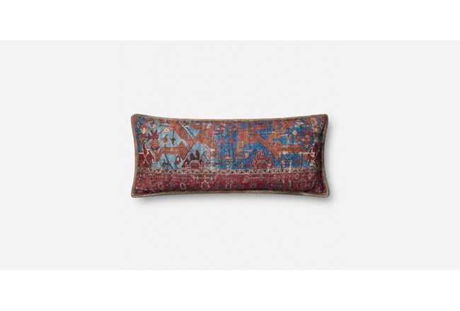 Accent Pillow-Red/Multi Tapestry Kidney 14X36 - 360