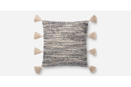Accent Pillow-Grey Side Tassels 20X20