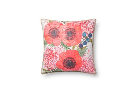 Accent Pillow-Spring Flowers On White 18X18 - Main