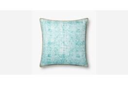 Accent Pillow-Teal Print Block 22X22