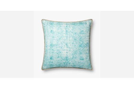 Accent Pillow-Teal Print Block 22X22