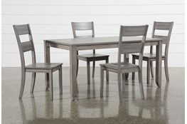 Matias Grey 5 Piece Dining Set