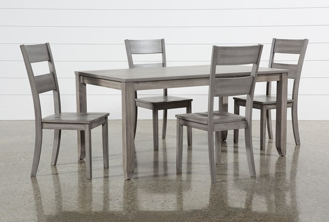 Matias Grey 5 Piece Dining Set - 360