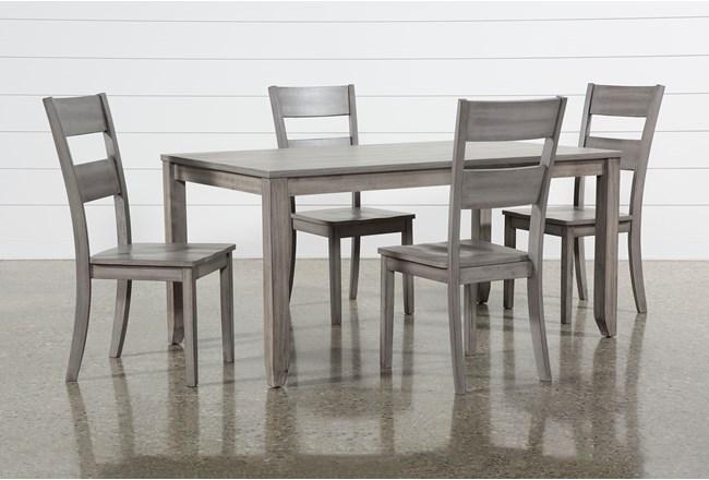 Matias Grey 5 Piece Dining Set - 360