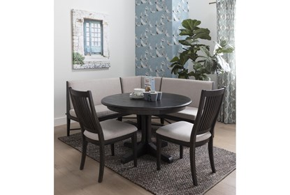 Valencia 4 Piece Banquette Dining Set With Chair