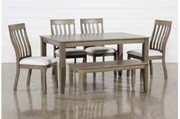 Rancho Grey Rectangle 6 Piece Dining Set