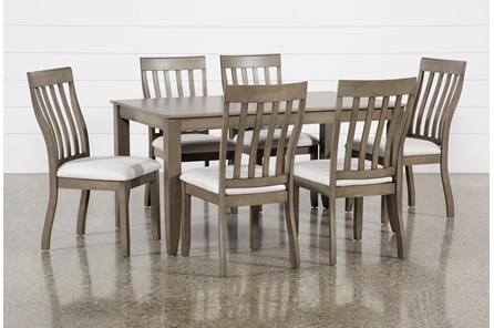 Rancho Grey Rectangle 7 Piece Dining Set - Main