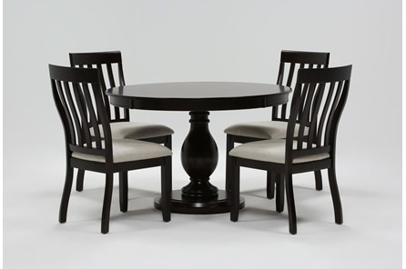 Rancho Brown Round 5 Piece Dining Set
