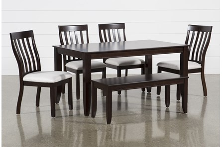 Rancho Brown Rectangle 6 Piece Dining Set - Main