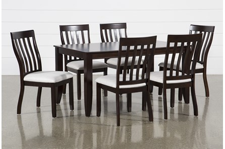 Rancho Brown Rectangle 7 Piece Dining Set - Main