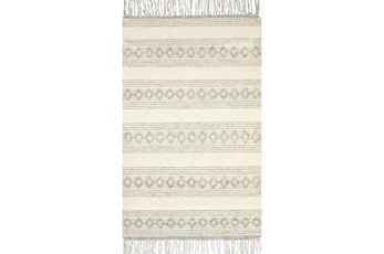 27X45 Rug-Magnolia Home Holloway Grey/Ivory By Joanna Gaines