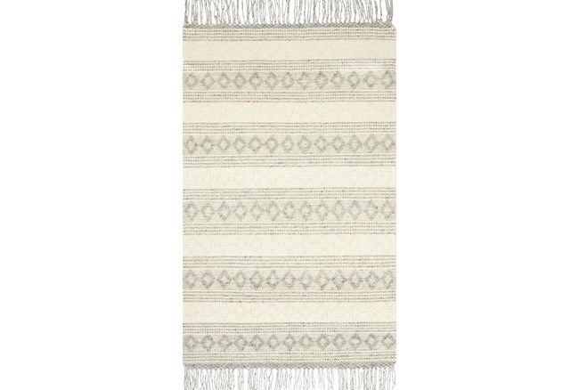 """3'5""""x5'5"""" Rug-Magnolia Home Holloway Grey/Ivory By Joanna Gaines - 360"""