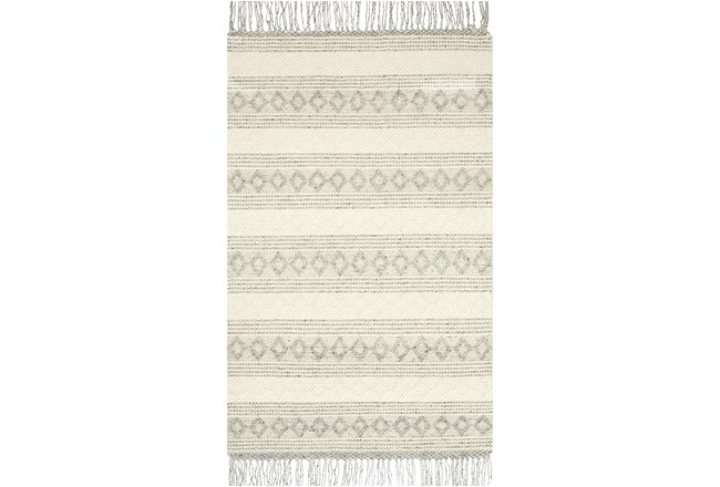 60X90 Rug-Magnolia Home Holloway Grey/Ivory By Joanna Gaines - 360
