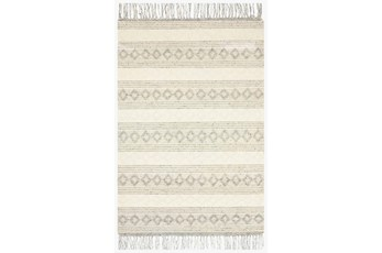 111X156 Rug-Magnolia Home Holloway Grey/Ivory By Joanna Gaines