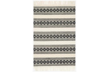27X45 Rug-Magnolia Home Holloway Ivory/Black By Joanna Gaines