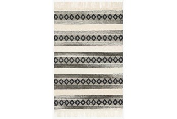 """2'3""""x3'7"""" Rug-Magnolia Home Holloway Ivory/Black By Joanna Gaines"""