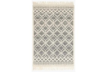 """3'5""""x5'5"""" Rug-Magnolia Home Holloway Black/Ivory By Joanna Gaines"""