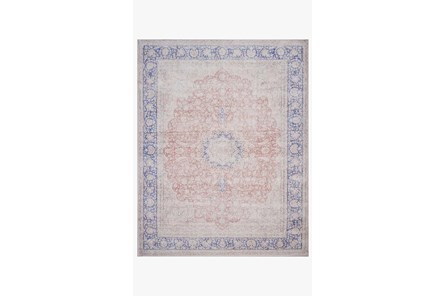 27X45 Rug-Magnolia Home Lucca Terracotta/Blue By Joanna Gaines