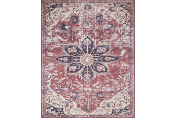 """2'3""""x3'7"""" Rug-Magnolia Home Lucca Rust/Ivory By Joanna Gaines"""