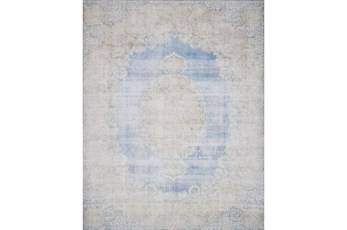 27X45 Rug-Magnolia Home Lucca Light Blue/Sand By Joanna Gaines