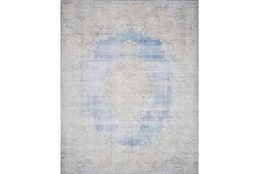 """2'3""""x3'7"""" Rug-Magnolia Home Lucca Light Blue/Sand By Joanna Gaines"""