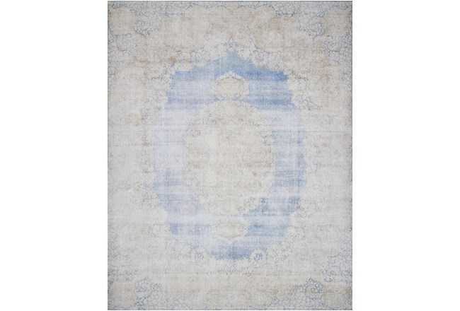 27X45 Rug-Magnolia Home Lucca Light Blue/Sand By Joanna Gaines - 360
