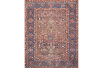 27X45 Rug-Magnolia Home Lucca Rust/Blue By Joanna Gaines