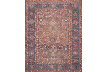"""2'3""""x3'7"""" Rug-Magnolia Home Lucca Rust/Blue By Joanna Gaines"""