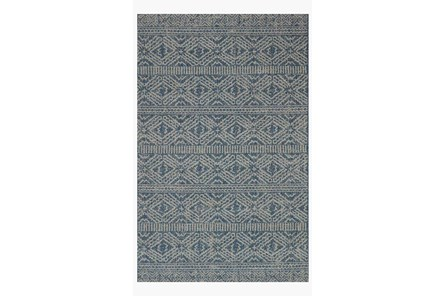 94X129 Rug-Magnolia Home Warwick Azure/Silver By Joanna Gaines