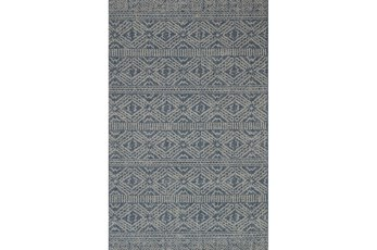 110X145 Rug-Magnolia Home Warwick Azure/Silver By Joanna Gaines