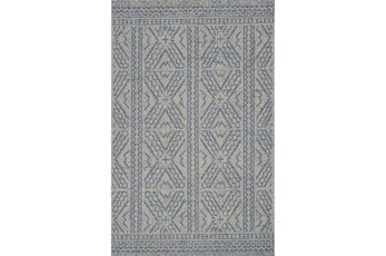 94X129 Rug-Magnolia Home Warwick Silver/Azure By Joanna Gaines