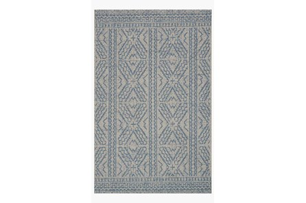 110X145 Rug-Magnolia Home Warwick Silver/Azure By Joanna Gaines