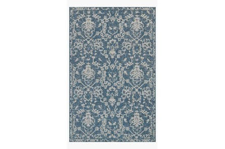 94X129 Rug-Magnolia Home Warwick Azure/Grey By Joanna Gaines