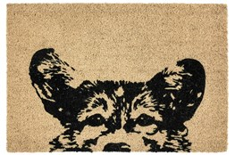 36X24 Doormat-Earnest Dog Black