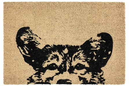 36X24 Doormat-Earnest Dog Black