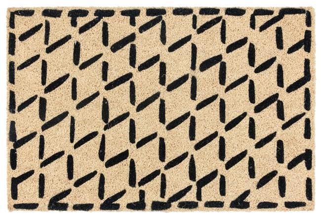 36X24 Doormat-Brushstroke Diamonds Black - 360