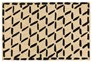 36X24 Doormat-Brushstroke Diamonds Black - Signature