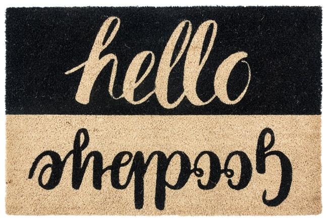 36X24 Doormat-Hello Goodbye Black - 360