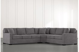 "Alder Foam 3 Piece 125"" Sectional With Left Arm Facing Sofa"