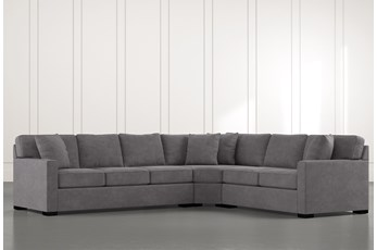 Alder Foam 3 Piece Sectional With Left Arm Facing Sofa