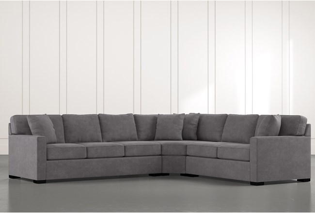 Alder Foam 3 Piece Sectional With Left Arm Facing Sofa - 360