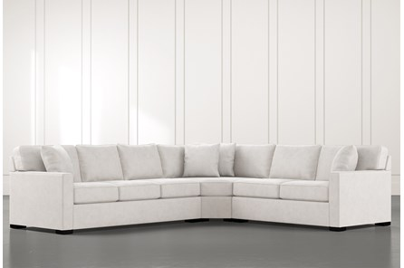Alder Light Grey 3 Piece Sectional with Right Arm Facing Loveseat - Main