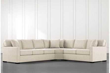 Alder Beige 3 Piece Sectional with Right Arm Facing Loveseat
