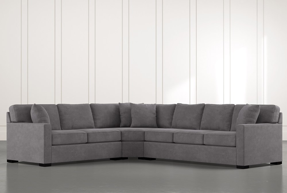 "Alder Foam 3 Piece 125"" Sectional With Right Arm Facing Sofa"