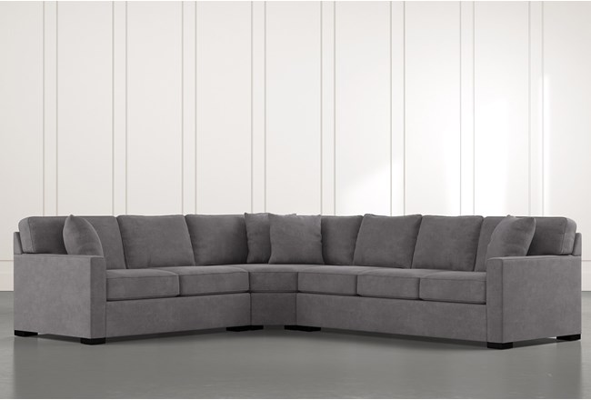 "Alder Foam 3 Piece 125"" Sectional With Right Arm Facing Sofa - 360"
