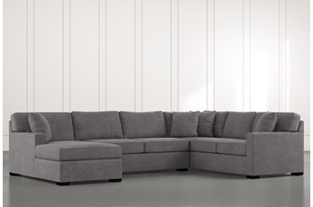 "Alder Foam 3 Piece 136"" Sectional With Left Arm Facing Chaise"