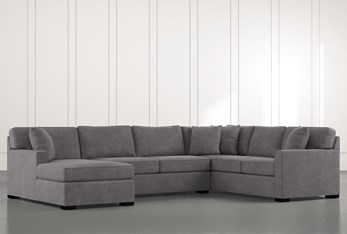 """Alder Foam 3 Piece 136"""" Sectional With Left Arm Facing Chaise"""