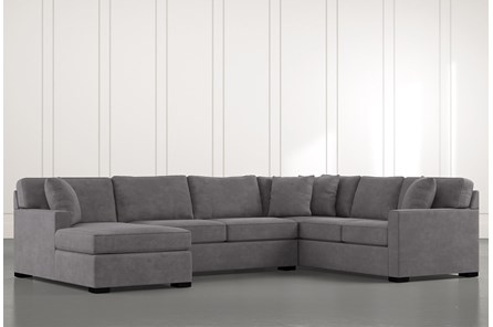 Alder Foam 3 Piece Sectional With Left Arm Facing Chaise