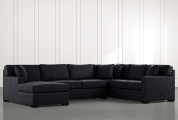 Alder Black 3 Piece Sectional with Left Arm Facing Chaise