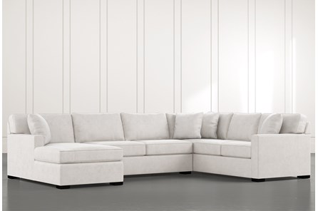 Alder Light Grey 3 Piece Sectional with Left Arm Facing Chaise